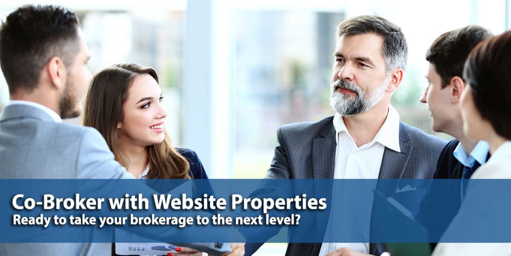Co-Broker, Website Properties, Business Brokerage, Website Broker