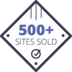 trust badge 500+ sites sold